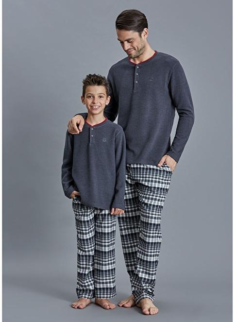 Dagi Erkek Çocuk Pijama Takım Antrasit